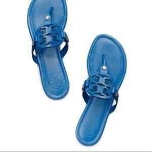 Tory Burch Evening Sky Blue Miller Thong Sandals